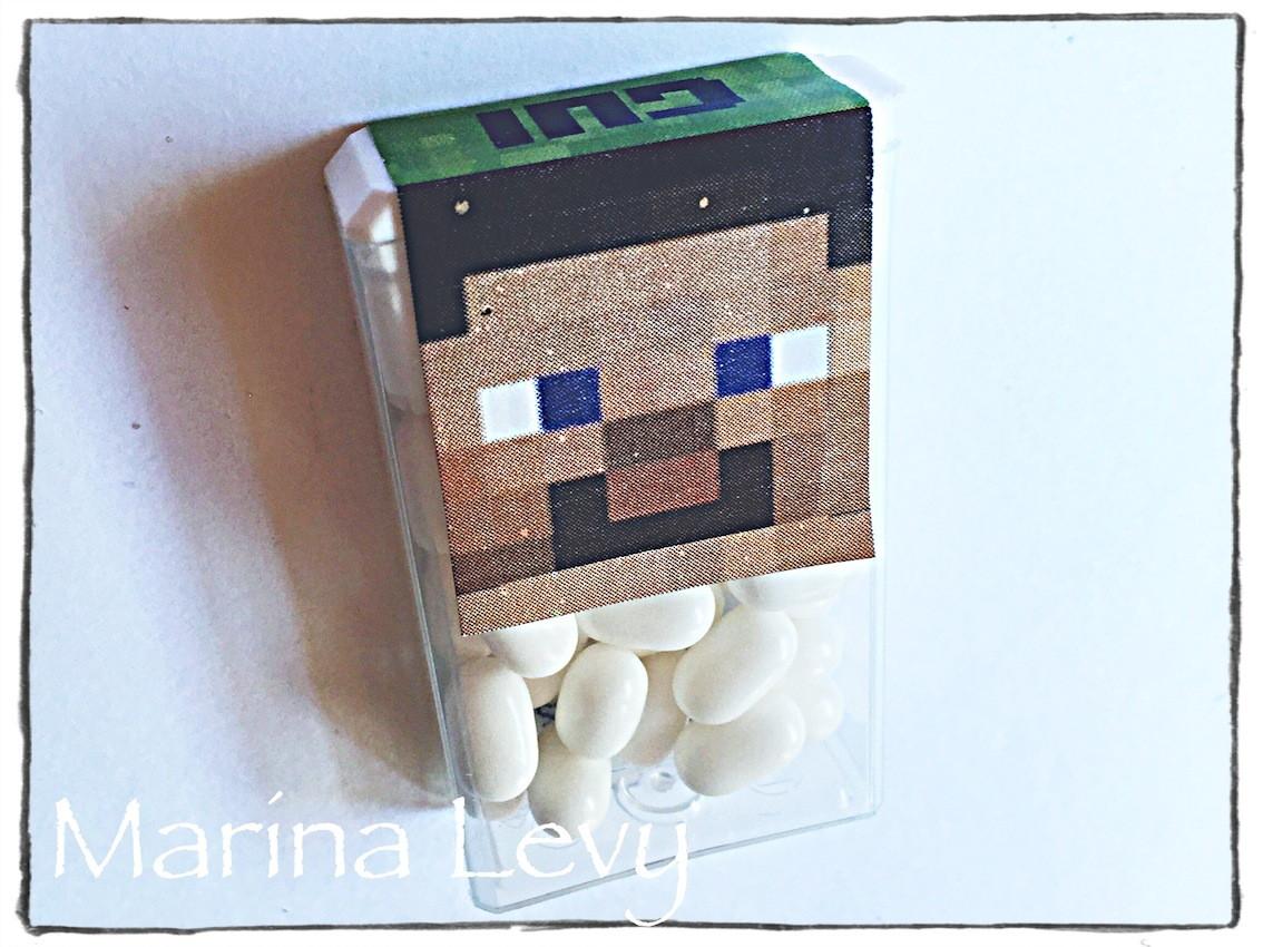 Rótulo Tic Tac 18un. - Minecraft