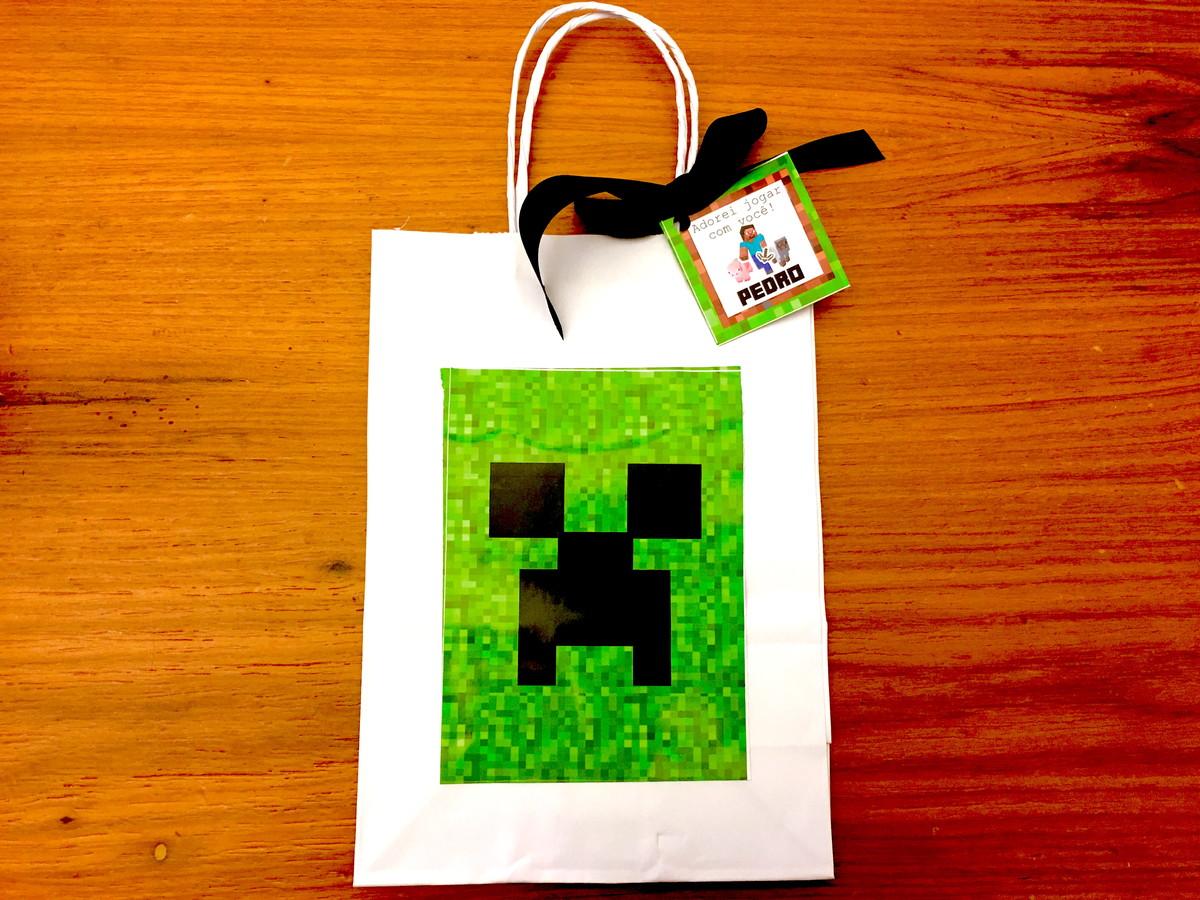 Sacola Lembrança - Minecraft