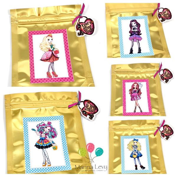 Sacolinha Metalizada - Ever After High