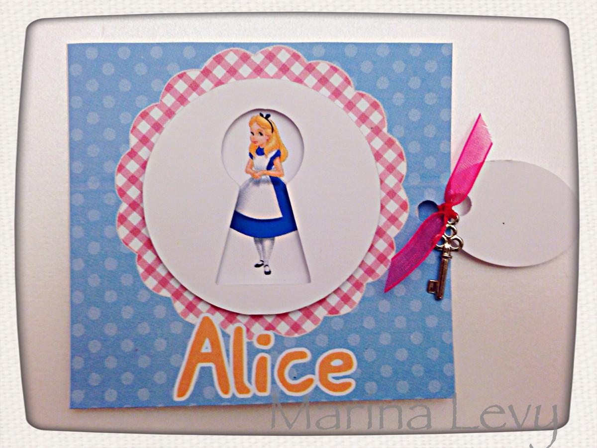 Convite Quadrado - Alice no País das Maravilhas