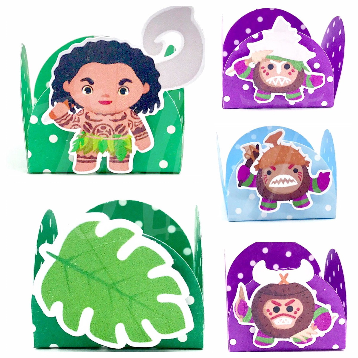 Kit c / 90 Forminhas - Moana Cute