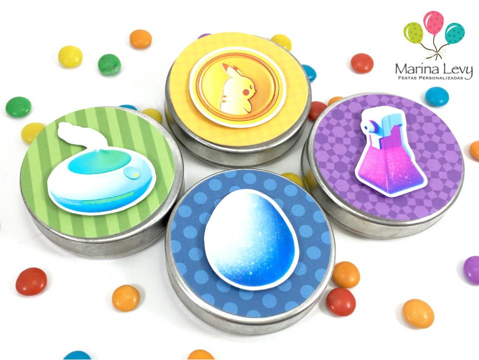 Latinha 3D - Pokemon  - Marina Levy Festas