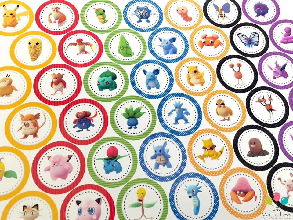 Aplique 3,5cm - Pokemon Go  - Marina Levy Festas
