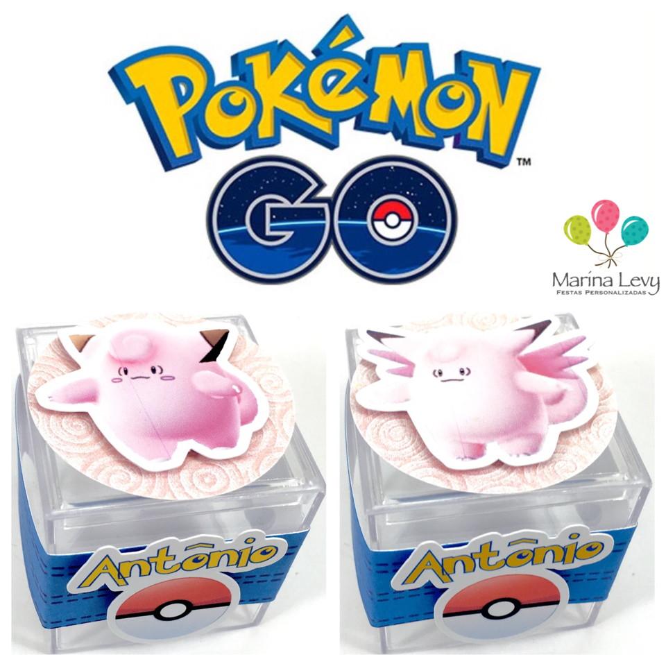 Caixinha Acrílico 3D - Pokemon Go  - Marina Levy Festas