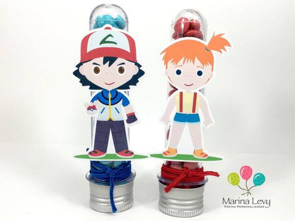 Tubete - Pokemon Ash  - Marina Levy Festas