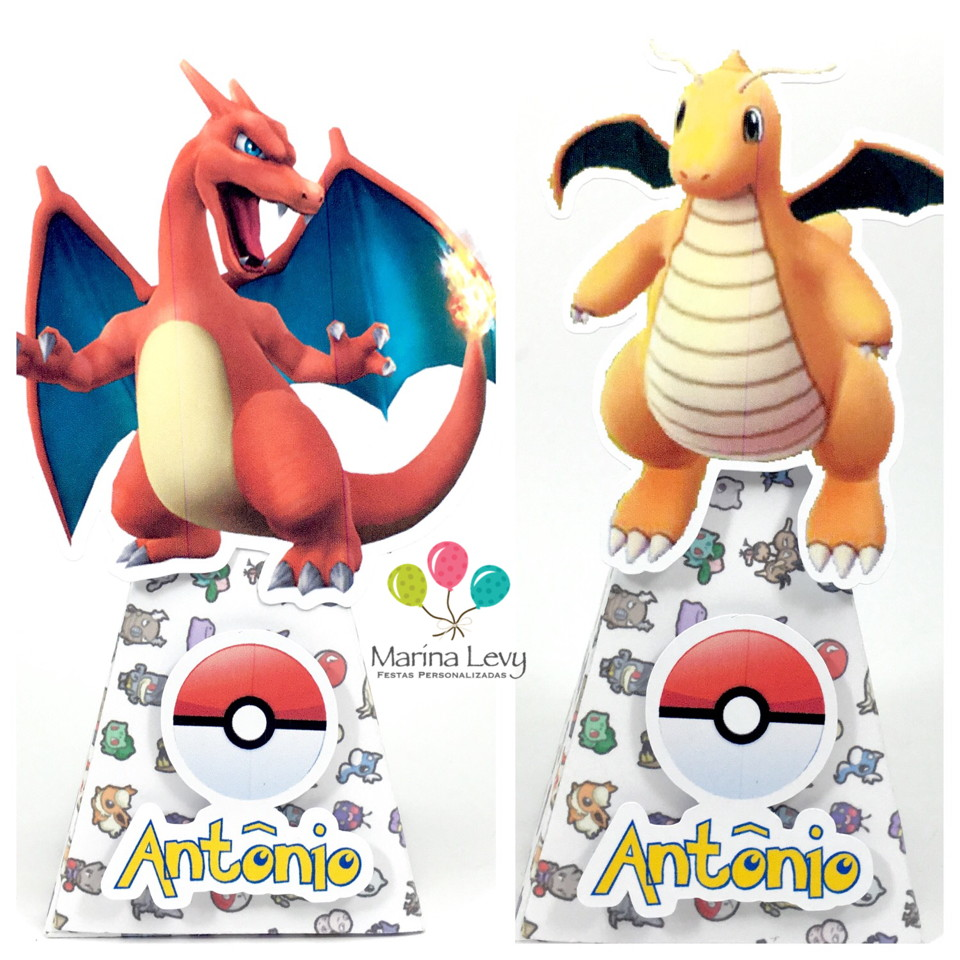 Cone quadrado - Pokemon Go  - Marina Levy Festas