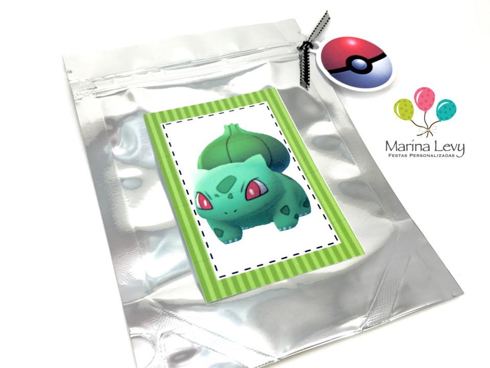 Sacolinha Metalizada - Pokemon Go  - Marina Levy Festas