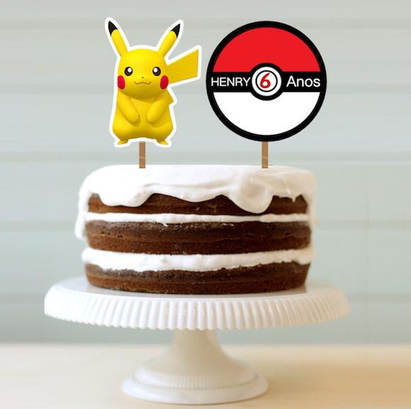 Topo de bolo - Pokemon