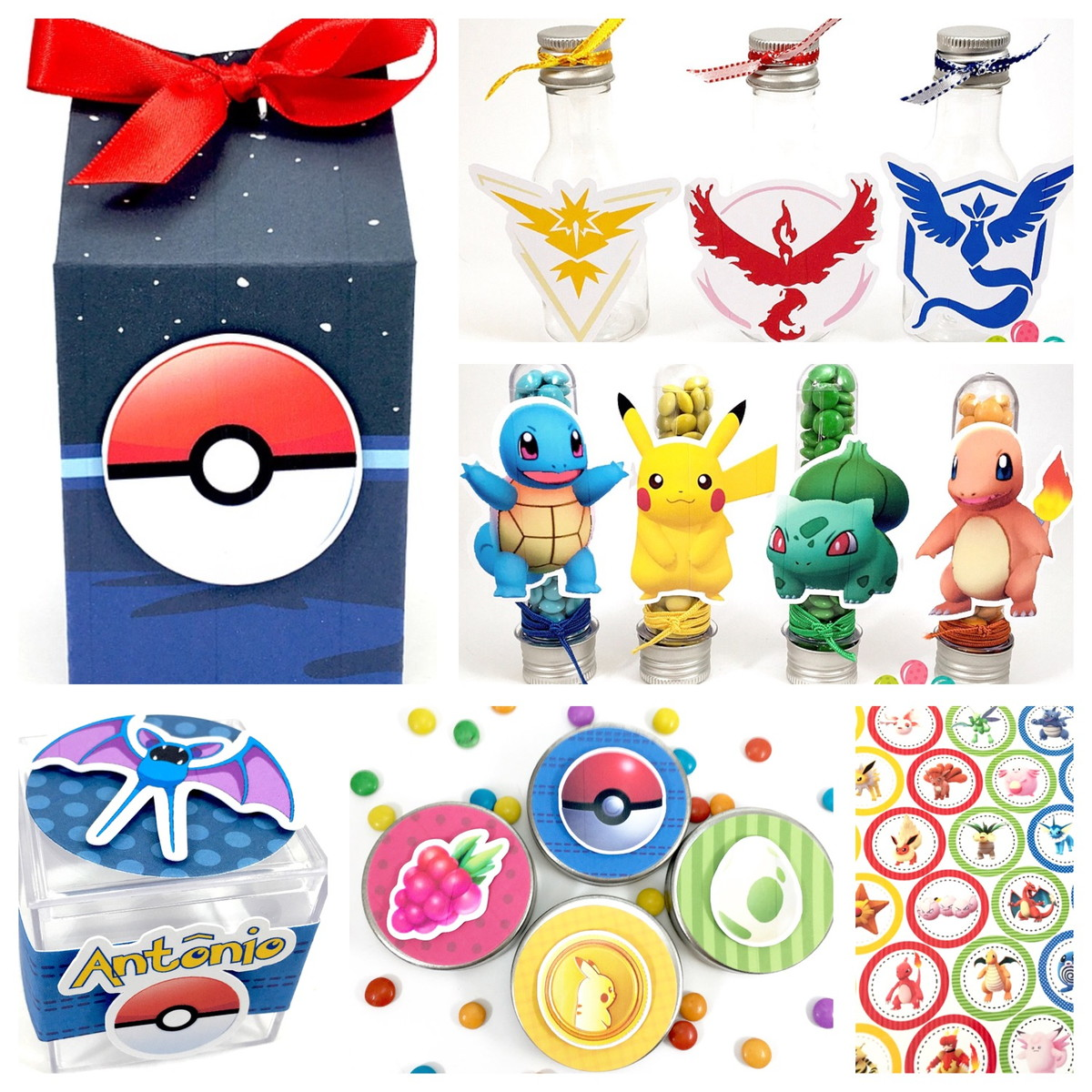 Kit Festa Scrap - Pokemon  - Marina Levy Festas