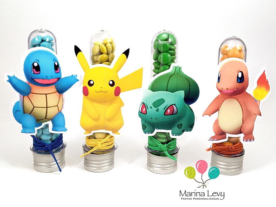 Kit Festa 150 Itens 3D - Pokemon  - Marina Levy Festas