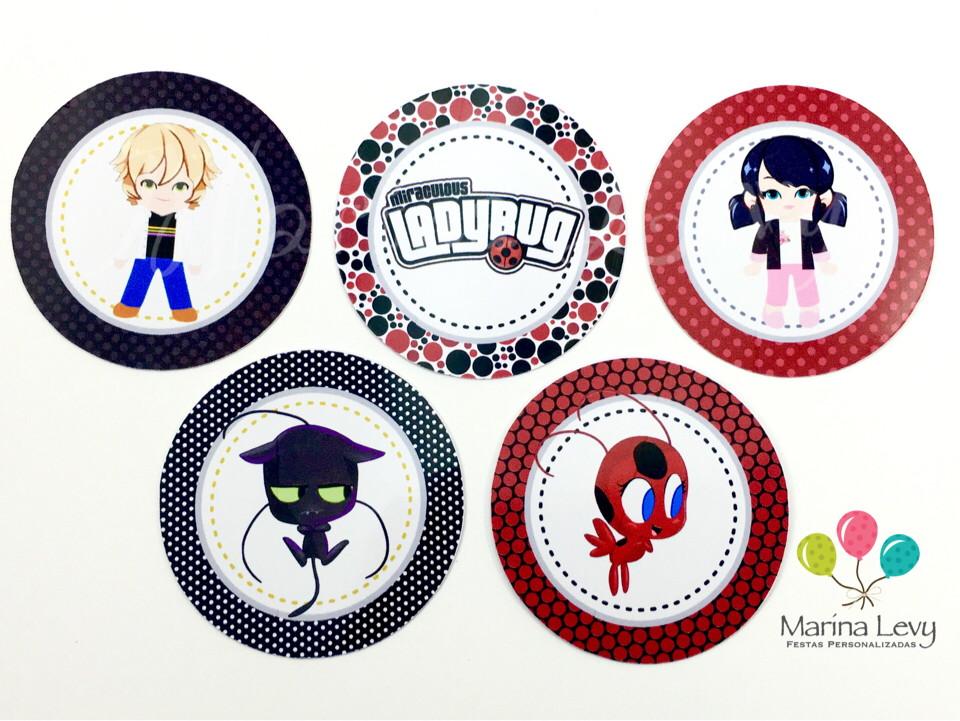 Aplique 3,5cm - LadyBug  - Marina Levy Festas
