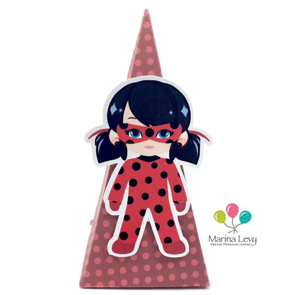 Cone Quadrado - LadyBug  - Marina Levy Festas