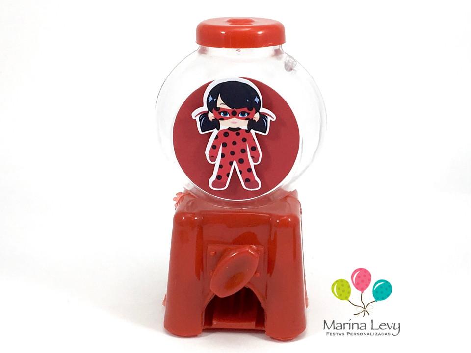 Mini Candy Machine - LadyBug  - Marina Levy Festas