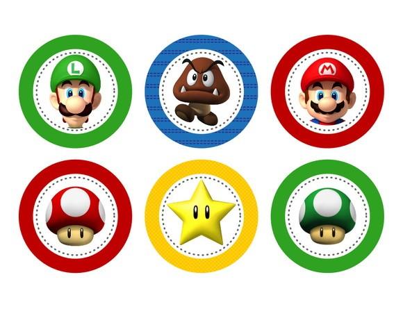 Aplique 3,5cm - Super Mario