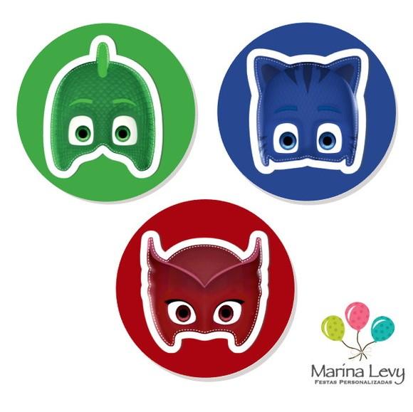Aplique 3D - PJ Masks