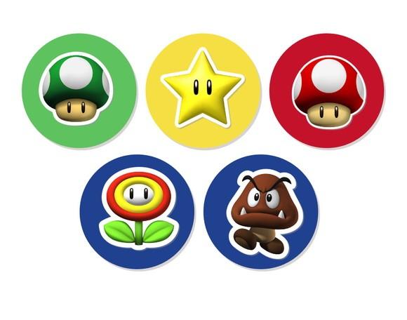 Aplique 3D - Super Mario