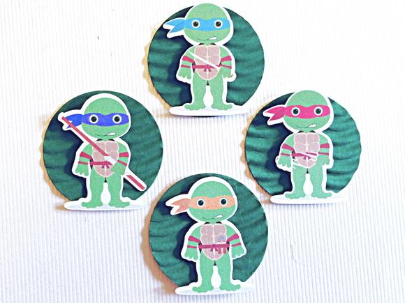 Aplique 3D - Tartarugas Ninja