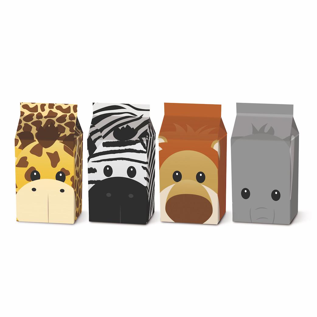 Caixas Milk (8un) -  Safari  - Marina Levy Festas