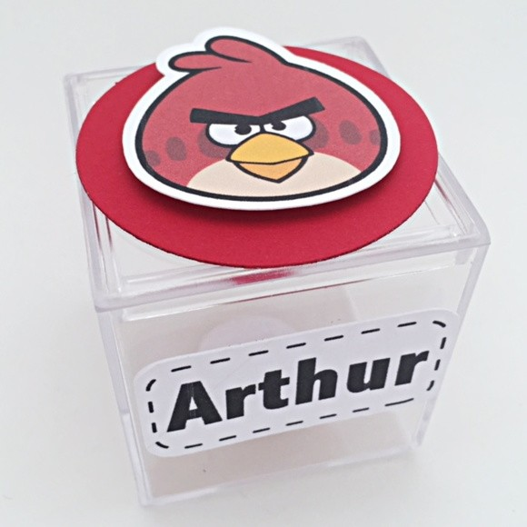Caixinha Acrílico - Angry Birds