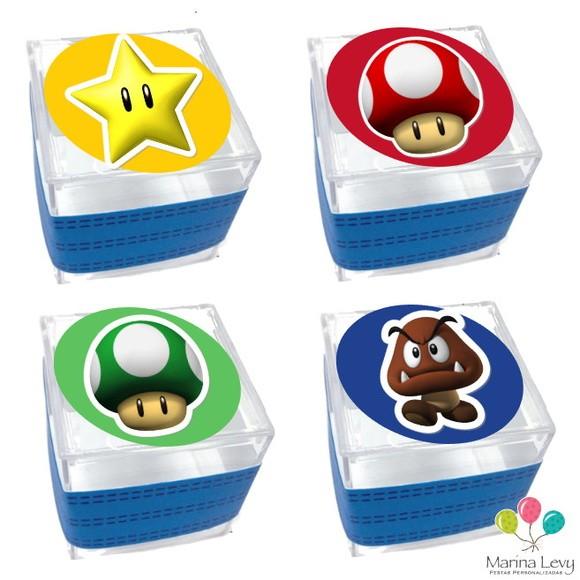 Caixinha Acrílico - Super Mario