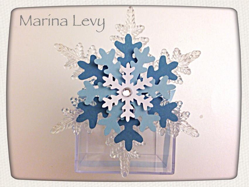 Caixinha Floco de Neve Cristal - Frozen