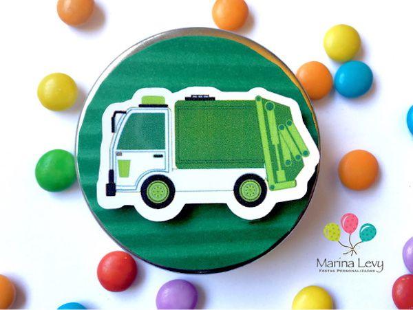 Caminhão de Lixo - Monte seu Kit  - Marina Levy Festas