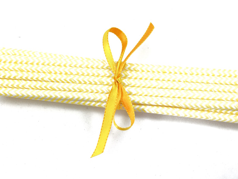 Canudo de Papel - Amarelo Missoni