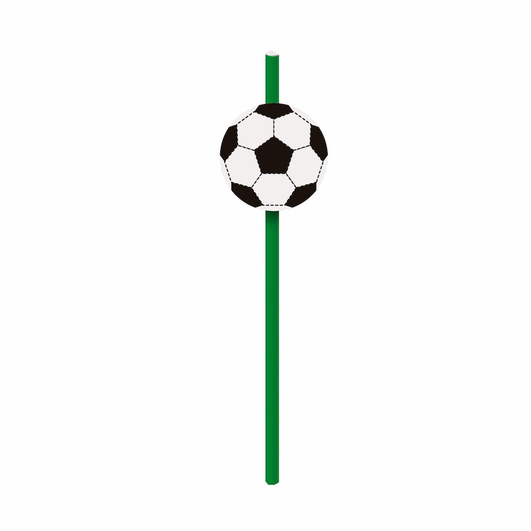 Canudo com aplique - Futebol