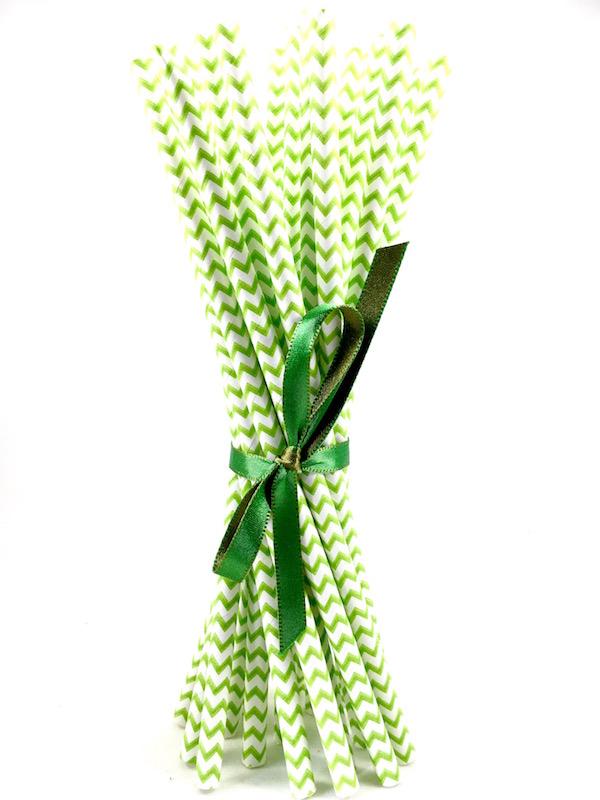 Canudo de Papel - Verde Missoni  - Marina Levy Festas