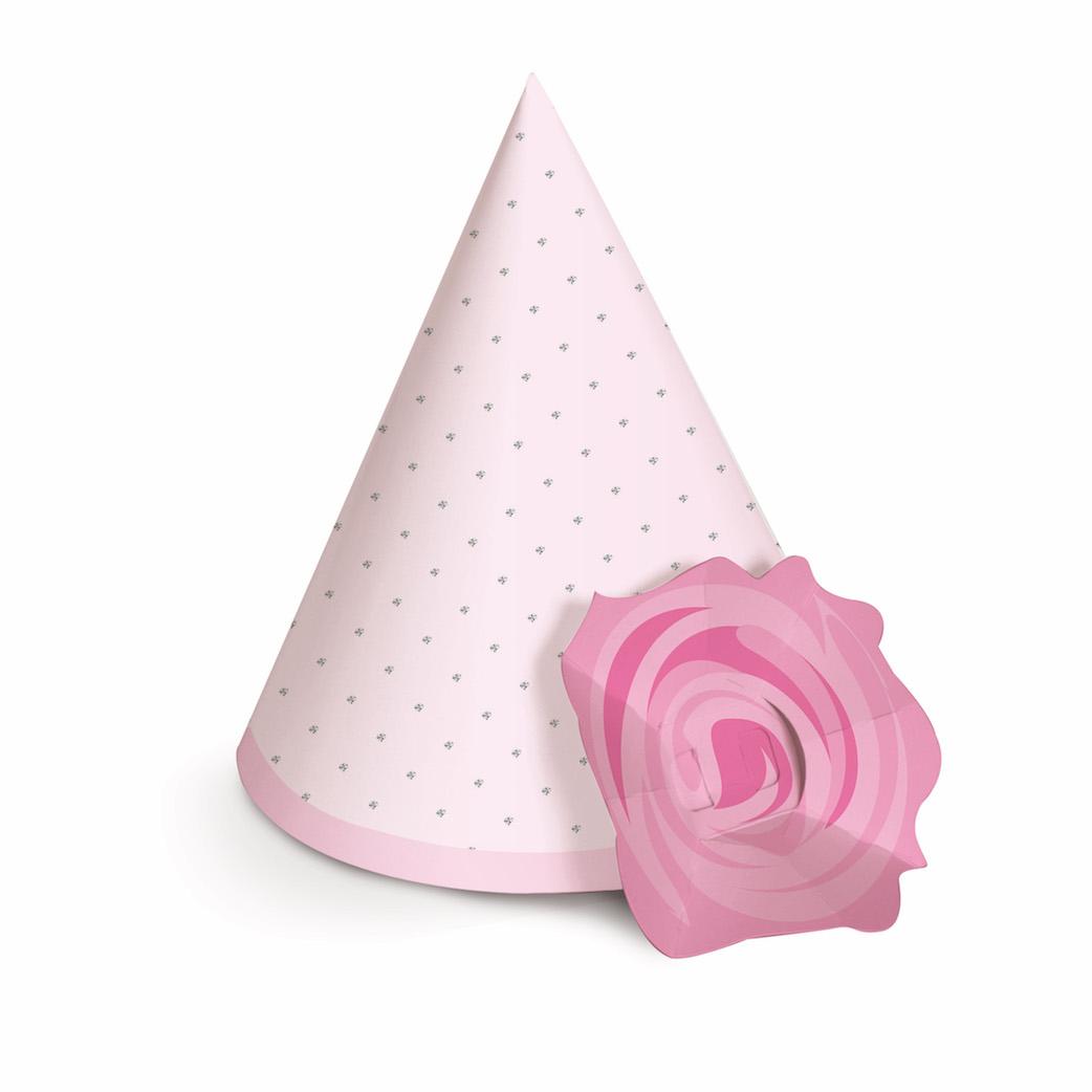 Chapéu com Aplique de Flor - Bailarina