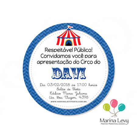 Circo - Monte seu Kit  - Marina Levy Festas
