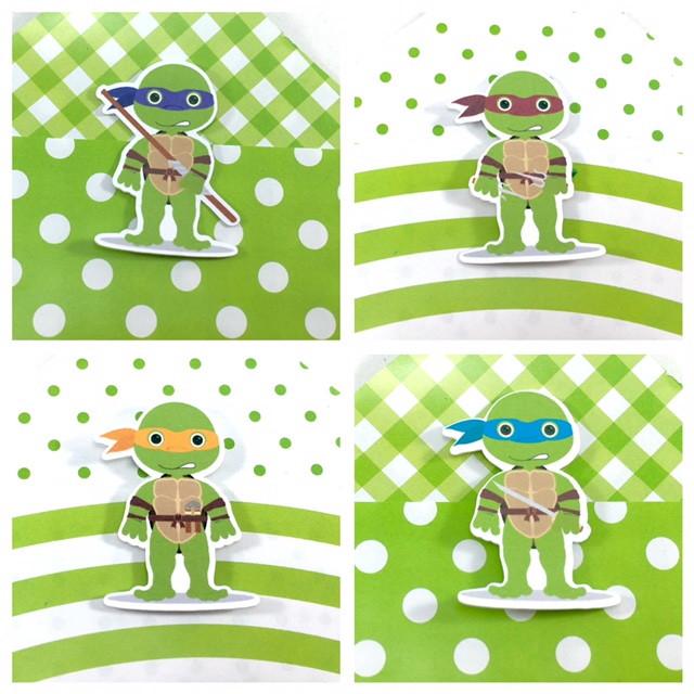 Cone com Aplique 3d - Tartarugas Ninja