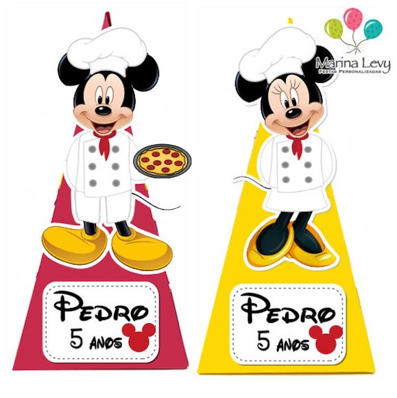 Cone Quadrado - Pizzaria Mickey