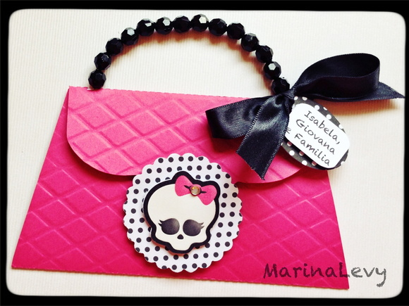 Convite Bolsa - Monster High