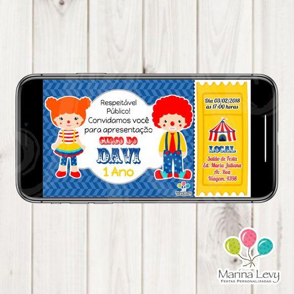 Convite Digital - Circo
