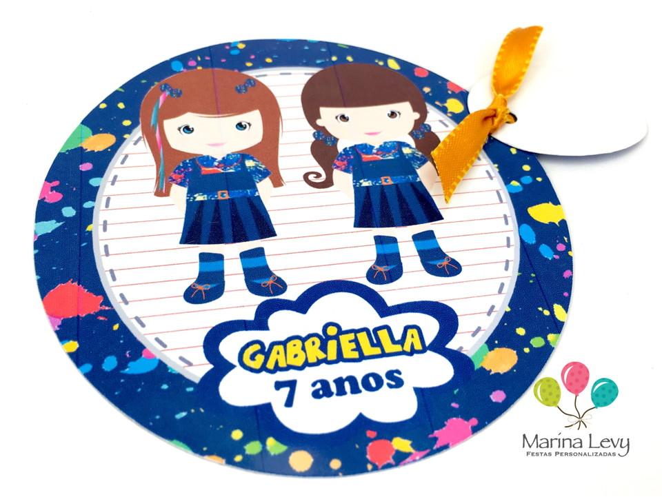Convite Redondo - Chiquititas