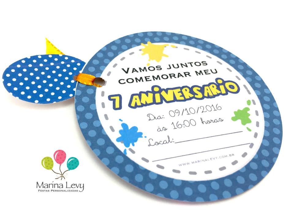 Convite Redondo - Chiquititas  - Marina Levy Festas