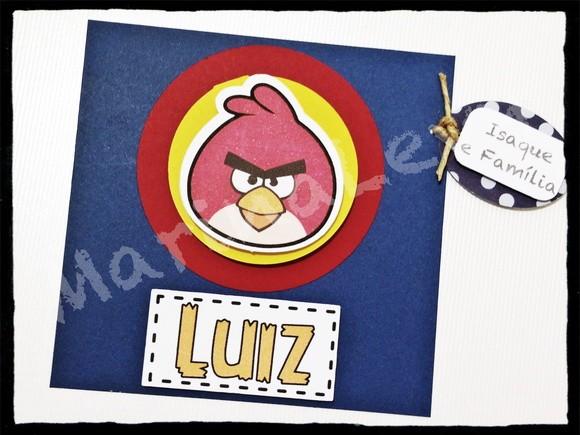 Convite Scrap Quadrado - Angry Birds