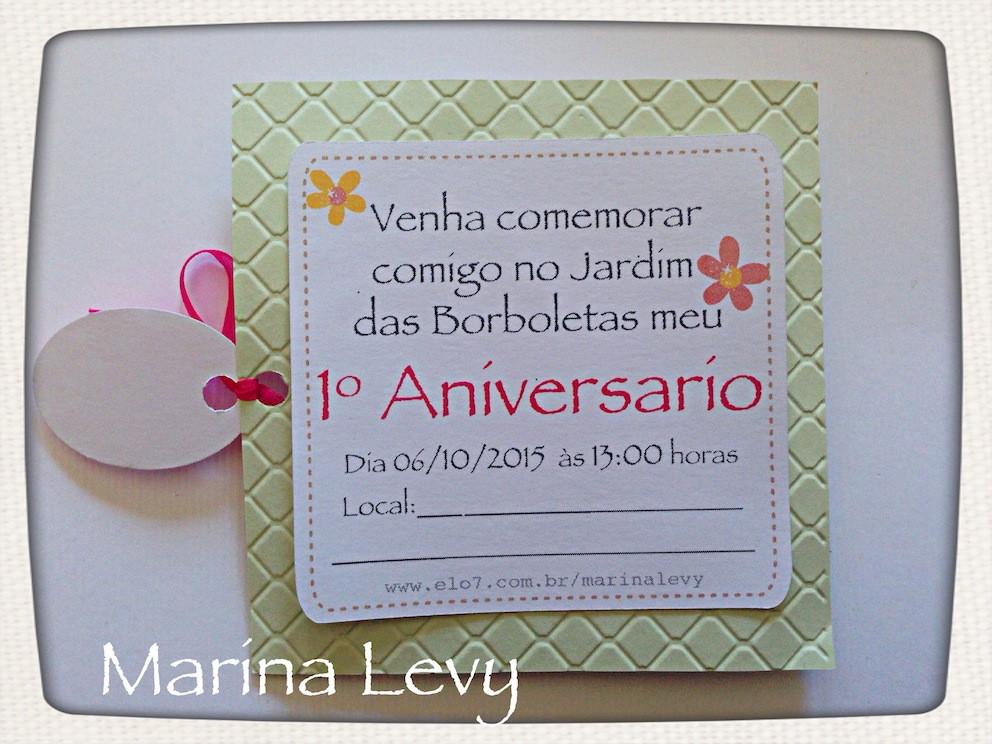 Convite Scrap Quadrado - Jardim  - Marina Levy Festas