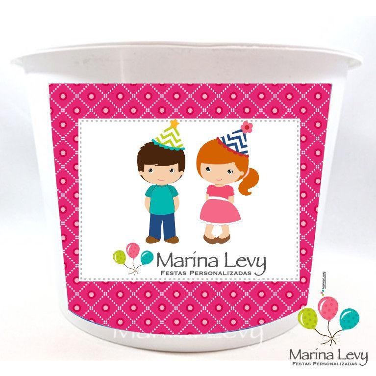 Balde de Pipoca  - Marina Levy Festas