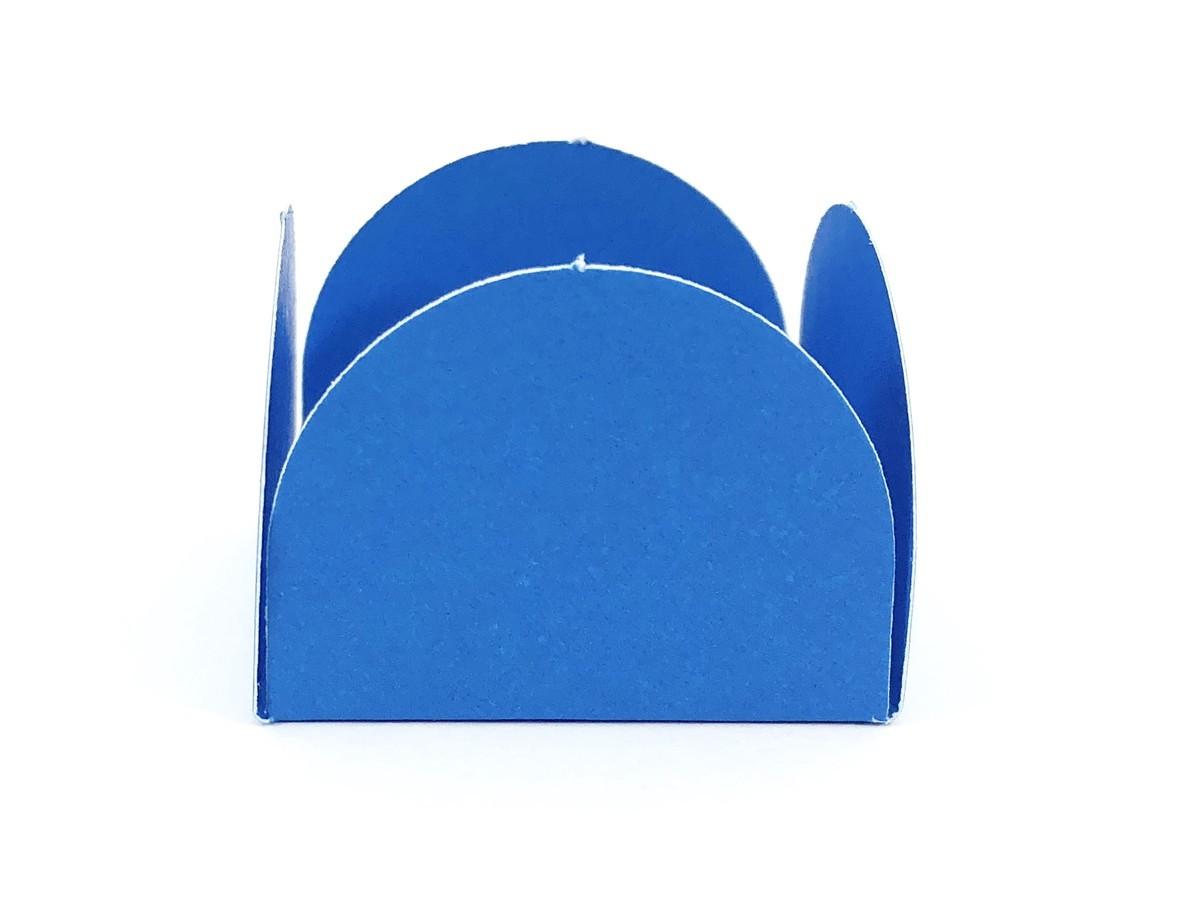 Forminha 4 Pétalas - Azul Royal