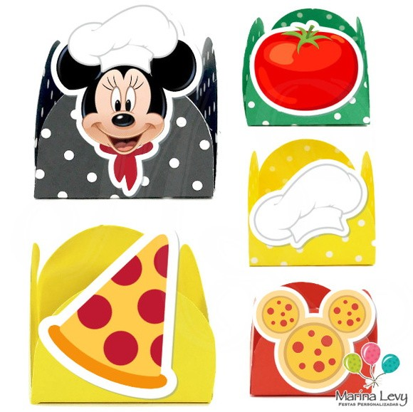 Forminha 3D - Pizzaria Mickey