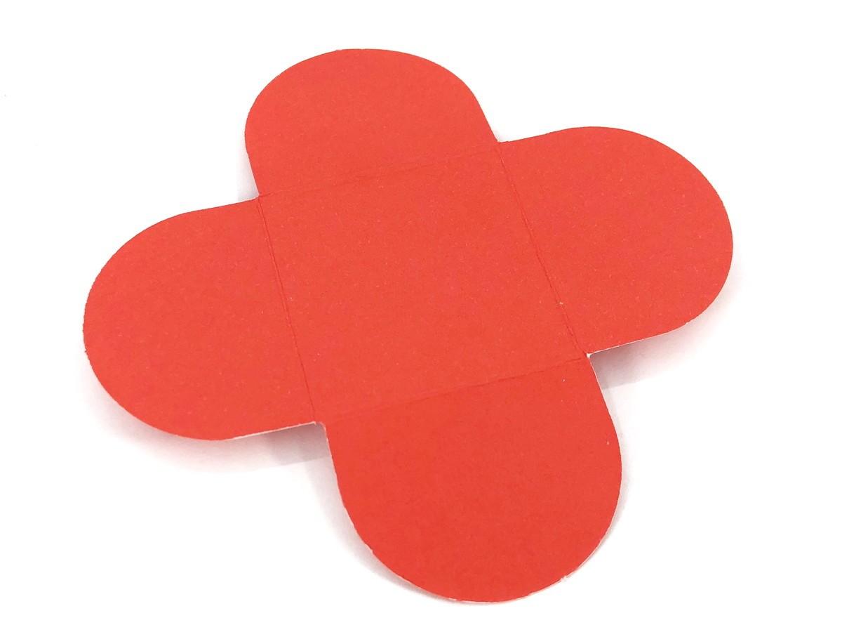 Forminha 4 Pétalas - Vermelha  - Marina Levy Festas