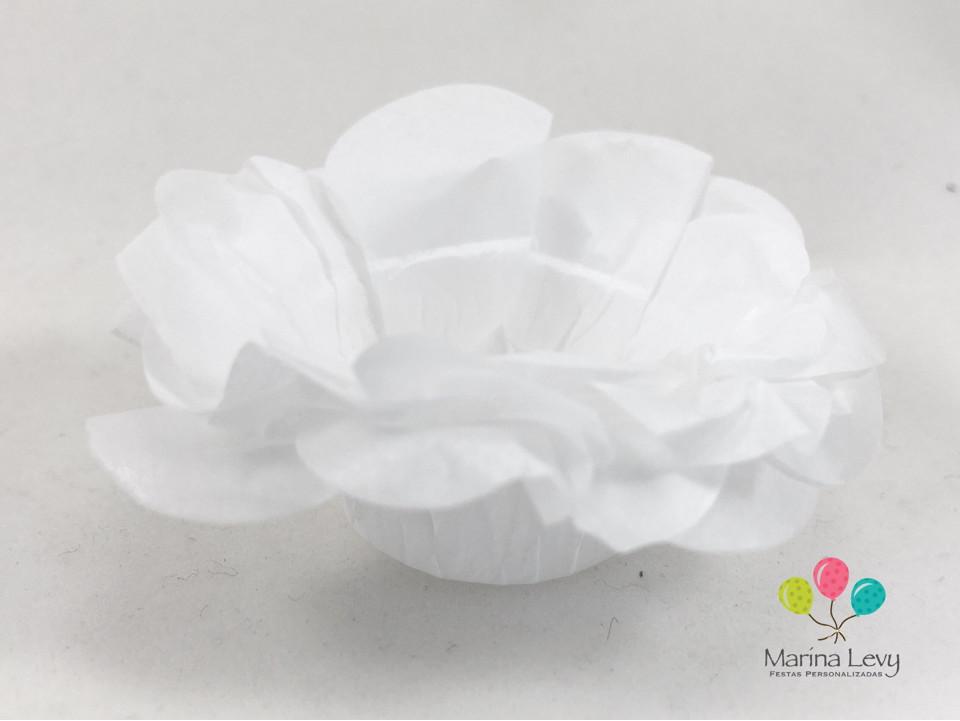 Forminha Flor 40un. - Branca