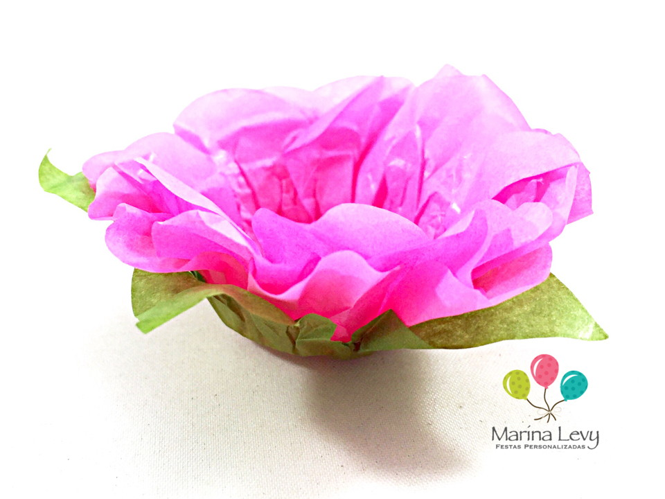 Forminha Flor 40un. - Rosa Escuro / Verde