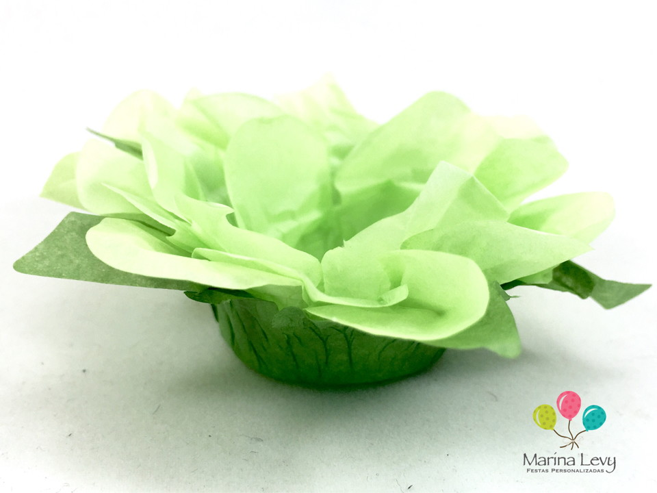 Forminha Flor 40un. - Verde / Verde