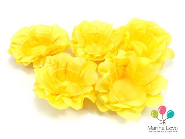 Forminha Flor 40un. - Amarelo Ouro  - Marina Levy Festas
