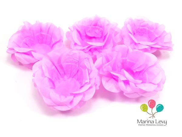 Forminha Flor 40un. - Rosa Clara  - Marina Levy Festas