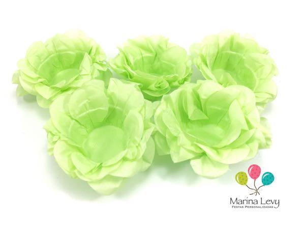 Forminha Flor 40un. - Verde  - Marina Levy Festas