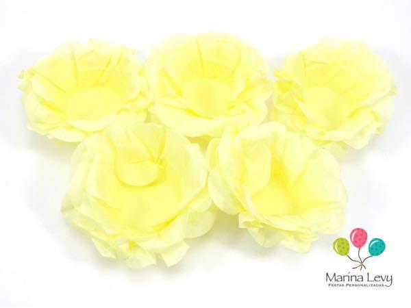 Forminha Flor 40un. - Amarelo Canário  - Marina Levy Festas